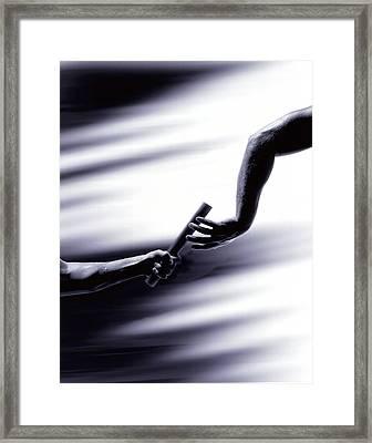 Hand Off Framed Print
