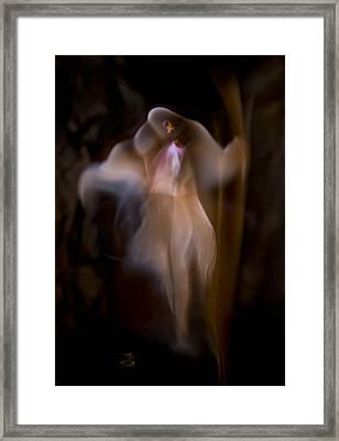 Heart Flame Framed Print