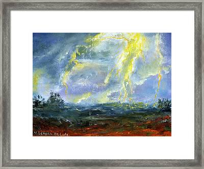 Hand Painted Art Louisiana Storm Framed Print