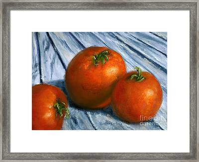 Hand Painted Art Still  Life Tomatoes Framed Print