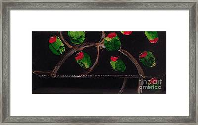 Hand Painted Clutch Purse 2 Framed Print