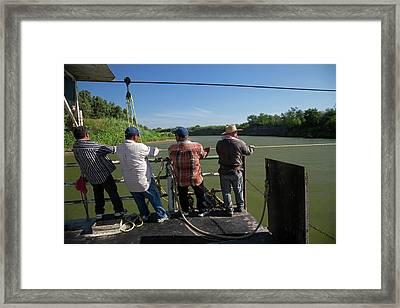 Hand-powered Ferry Framed Print