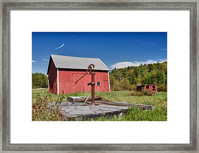 Hand Pump Framed Print by Guy Whiteley