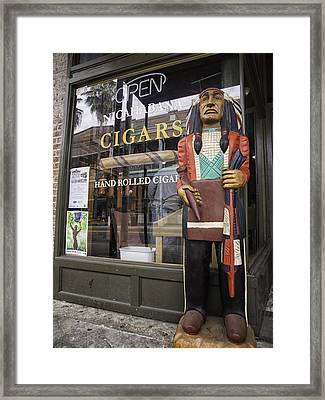 Hand Rolled Cigars Framed Print