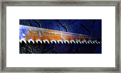 Hand Saw 3 Framed Print by Laurie Tsemak