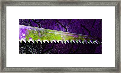 Hand Saw 4 Framed Print by Laurie Tsemak