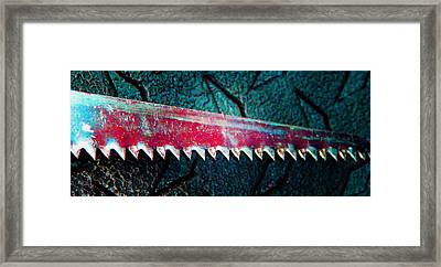 Hand Saw 5 Framed Print by Laurie Tsemak