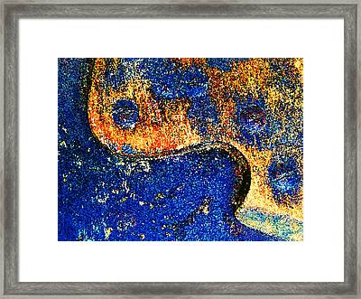 Hand Saw Abstract Painted Framed Print by Laurie Tsemak