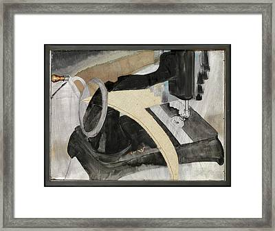 Hand Sewing Machine Framed Print by Arthur Dove