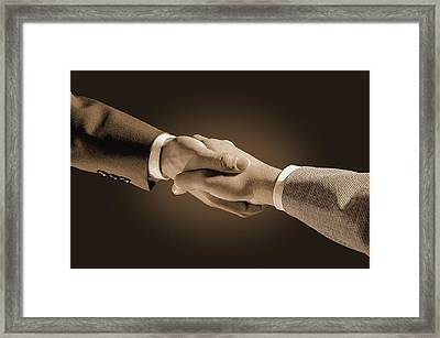 Hand Shake Framed Print by Don Hammond