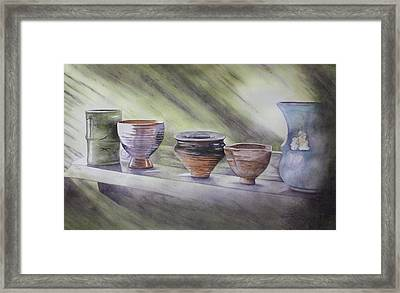 Hand Thrown Framed Print