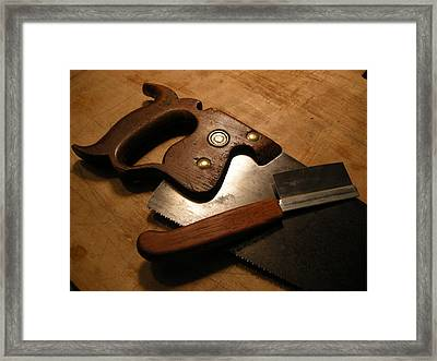 Hand Tools Framed Print by Garland Johnson