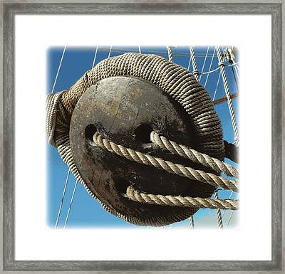 Hand Woven 1 Framed Print by Sheri McLeroy