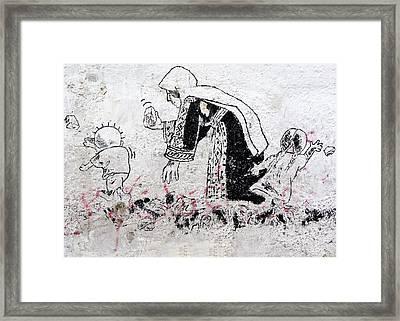 Handala With Family Framed Print
