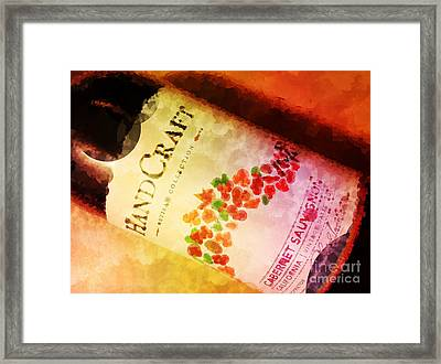 Handcraft Cabernet Sauvignon Framed Print by Mary Machare