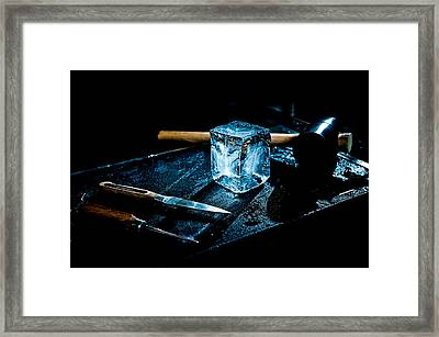 Handcrafted Icecube Framed Print by Wolfgang Simm