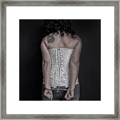 Handcuffed Framed Print by Gina Dsgn