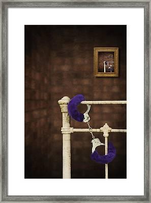 Handcuffs Framed Print by Amanda Elwell