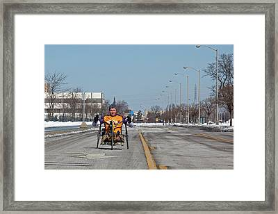 Handcycle Framed Print