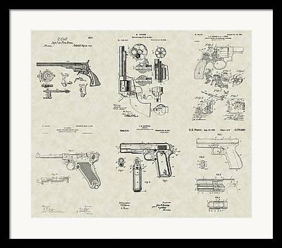 Glock Drawings Framed Prints