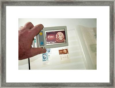 Handheld Electronic Magnifier Framed Print by Photostock-israel