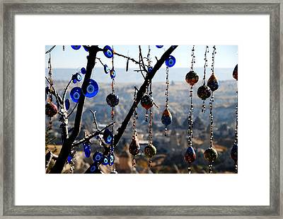 Handicrafts In Cappadocia Framed Print by Jacqueline M Lewis