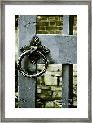 Handle On Blue Framed Print by Margie Hurwich