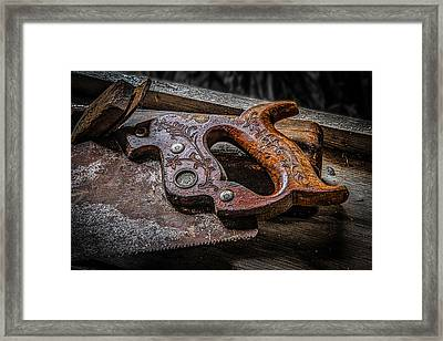 Handle On The Saw  Framed Print