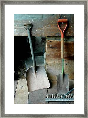 Framed Print featuring the photograph Handled And Raked by Christiane Hellner-OBrien