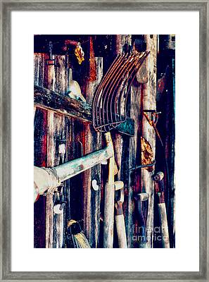 Framed Print featuring the photograph Handles And The Pitchfork by Lesa Fine