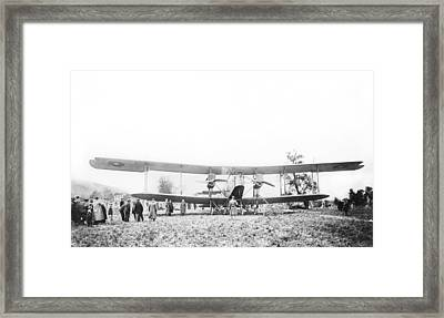 Handley Page Type O Bomber Framed Print by Library Of Congress