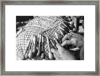 Handmade Lace Work Framed Print