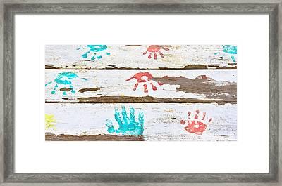 Handprints Framed Print