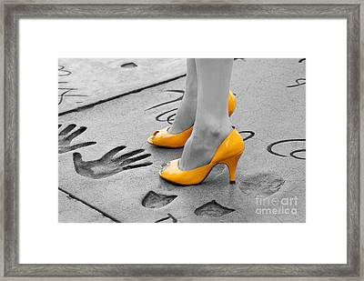 Hands And Feet Framed Print