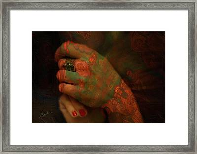 Hands Framed Print by Arsen Arsovski