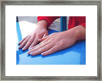 Hands Down Framed Print by Barb Baker