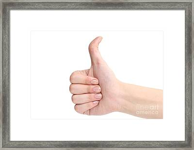 Hands Framing Comosition  Framed Print by Wanlop Sonngam