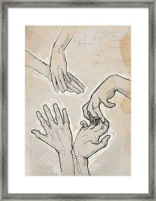 Hands Framed Print by H James Hoff