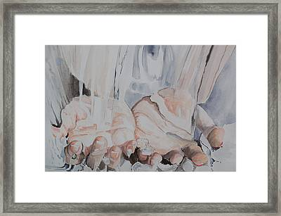 Hands In Water Framed Print