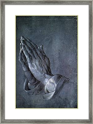 Hands Of An Apostle 1508 Framed Print by Philip Ralley