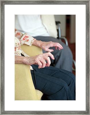 Hands Of An Elderly Woman Framed Print