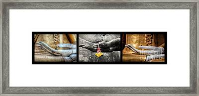 Hands Of Buddha Framed Print by Adrian Evans