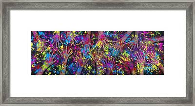 Hands Of Colour Framed Print