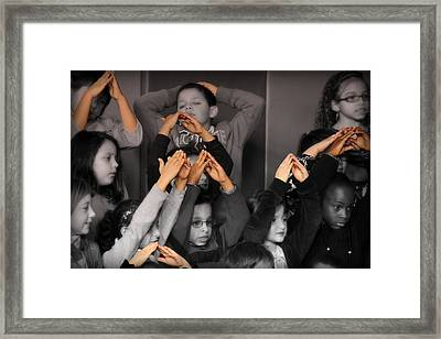 Hands Of Diversity Framed Print