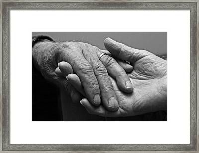 Framed Print featuring the photograph Hands Of Love by Barbara West