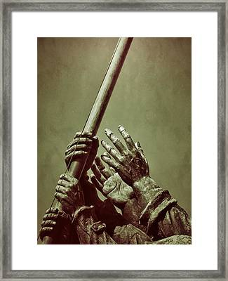 Hands Of Our Fathers Framed Print