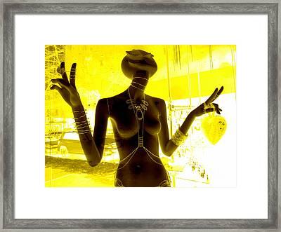 Hands Of Peace Framed Print by Ed Weidman