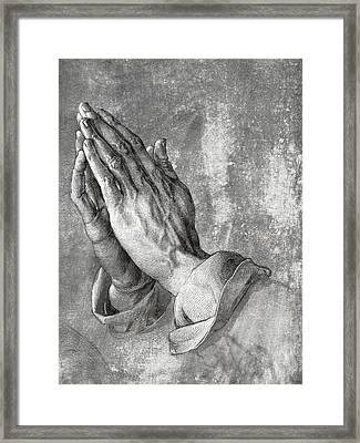 Hands Of Prayer  1508 Framed Print