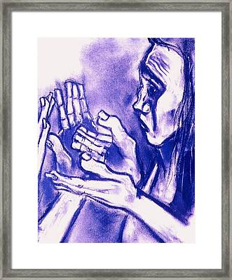 Hands Of Question Framed Print
