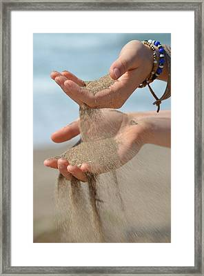 Hands Of Sands Framed Print